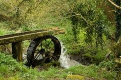 gammalt vattenhjul Arkivbild