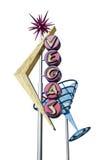 Gammalt Vegas tecken Royaltyfri Foto