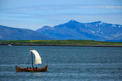 Gammalt viking fartyg Royaltyfri Bild
