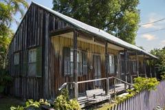 Gammalt wood hus Arkivfoto