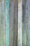 Gammalt wood paneler för grunge som målas i turkosfärg som används som bakgrund Arkivbild