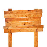 Gammalt wood tecken Arkivfoton