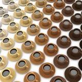 gamme 3d des tasses de café Photos stock