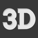 gamme de gris tridimensionnelle de solide de connexion du bouton 3D illustration de vecteur