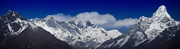 Gamme de l'Himalaya principale Photos libres de droits