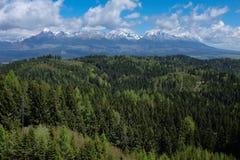 Gamme de montagne élevée de Tatra Photographie stock