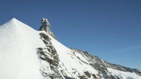 Gamme de montagne couronnée de neige de glacier de Jungfraujoch Photographie stock libre de droits