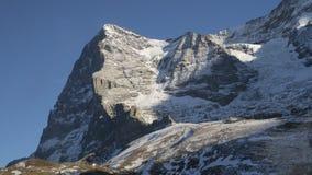 Gamme de montagne couronnée de neige de glacier de Jungfraujoch Images stock