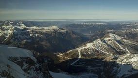 Gamme de montagne couronnée de neige de glacier de Jungfraujoch Image libre de droits