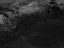 Gamme de montagne noire et blanche Photos stock