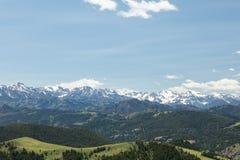 Gamme de montagne rocheuse élevée occidentale Images libres de droits