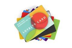 Gamme des designs de carte colorés de fidélité Photos libres de droits