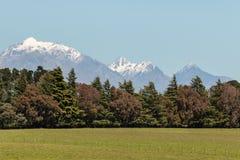 Gamme di Kaikoura in alpi del sud in Nuova Zelanda Fotografia Stock Libera da Diritti