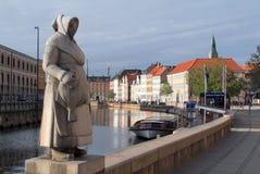 Gammel子线在哥本哈根 库存图片