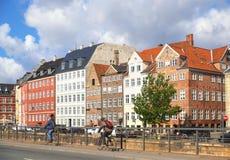 Gammel-Strang in Kopenhagen Stockfotografie