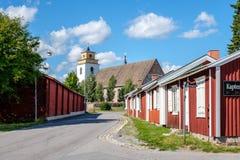 Gammelstad教会镇在北瑞典 库存图片