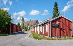 Gammelstad教会镇在北瑞典 免版税图库摄影
