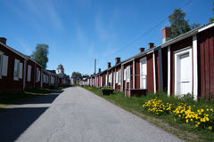 Gammelstad,吕勒奥,瑞典 免版税图库摄影