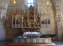 Gammelstad church. Interior from Gammelstad church Sweden Stock Photography
