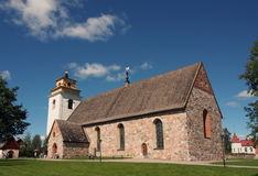 Gammelstad church. An old church in Gammelstad, Norrbotten, Sweden Royalty Free Stock Photo
