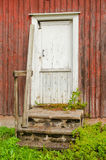 Gammelstad church town. A door in Gammelstad church town in Sweden royalty free stock photos