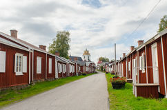 Gammelstad church town. In Sweden, cultural heritage stock photography