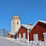 In Gammelstad Church Town Royalty Free Stock Images
