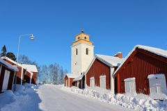 In Gammelstad Church Town Royalty Free Stock Photography