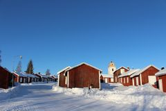 In Gammelstad Church Town Royalty Free Stock Photo