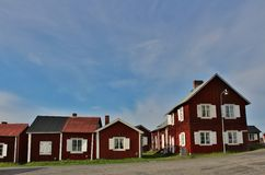 Gammelstad Church Town. This is the worlds largest and best preserved church town with more than 400 church cottages grouped around Norrlands largest medieval Royalty Free Stock Photography