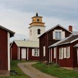 Gammelstad kościół miasteczko Zdjęcie Stock