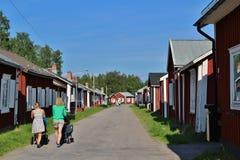 Gammelstad kyrkastad Royaltyfri Fotografi
