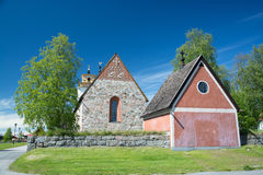 Gammelstad Lulea, Sverige royaltyfri foto