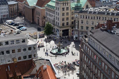 Gammeltorv Square in Copenhagen, Denmark Stock Photo