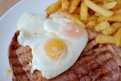 Gammon, αυγό, τσιπ Στοκ εικόνες με δικαίωμα ελεύθερης χρήσης