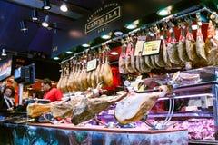 Gammon bij de markt van La Boqueria royalty-vrije stock foto's