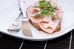 Gammon on bread Royalty Free Stock Photos
