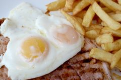 Gammon egg and chips Royalty Free Stock Images