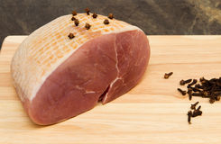 Gammon joint. A raw gammon joint studded with cloves Stock Photography