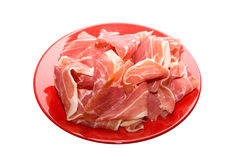 Gammon at red dish Stock Photography