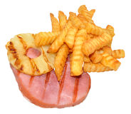 Gammon Steak And Chips Stock Images