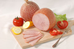 Gammon with vegetables Royalty Free Stock Images