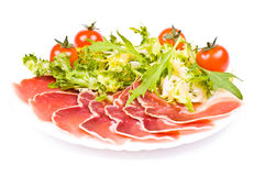 Gammon With Salad And Cherry Tomatoes Stock Photography