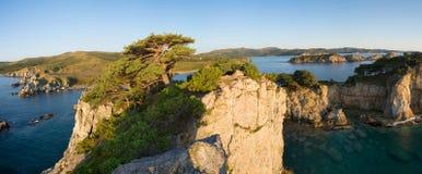 Gamow的俄国远东半岛 海岛叫Entranc 免版税库存图片