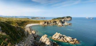 Gamow的俄国远东半岛 海岛告诉了Entrance 免版税图库摄影