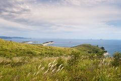 Gamow的俄国远东半岛 海岛告诉了Entrance 图库摄影