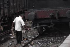 Gampola火车站- srikanka 免版税库存照片