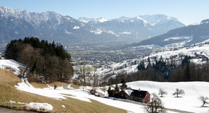 Gams - Switzerland. City in Switzerland in st. gallen kanton Stock Image