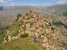 Gamsutl, an abandoned village in Dagestan, Russia stock image