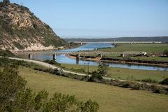 Gamtoos River Bridges Royalty Free Stock Images